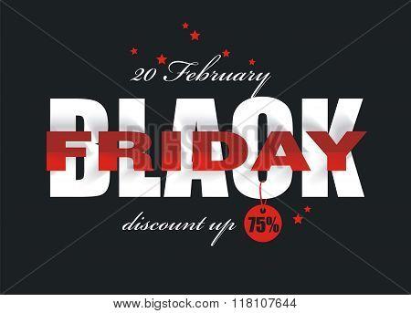 Black Friday Sale Design. Vector Illustration.