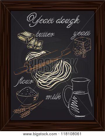 Dough Recipe Yeast With Milk, Butter, Flour,