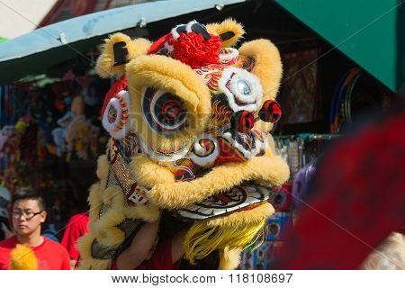 Chinese Lion During The 117Th Golden Dragon Parade