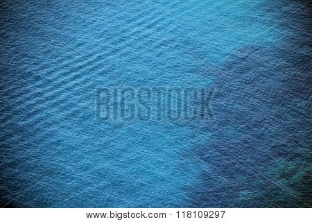 Sea ocean blue surface top view background