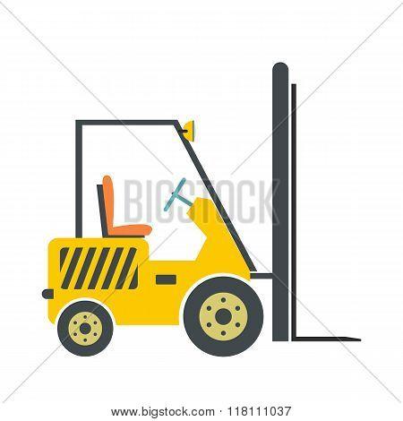 Yellow loader flat