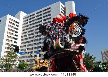 Chinese Lion During The 117Th Golden Dragon Parade,