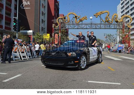 Deputy Chief During The 117Th Golden Dragon Parade