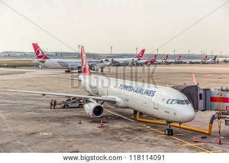 Airplanes aerial view
