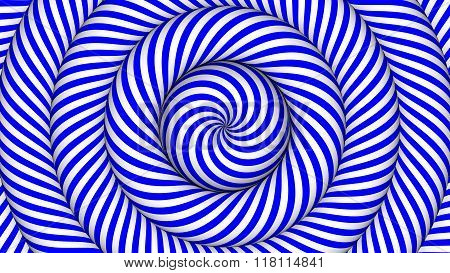 hypnotic background with blue and white concentric circles in motion