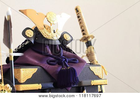 Samurai helmet on Japanese boy's festival (May 5th)
