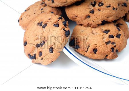 Chocolate Chips On Plate