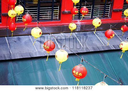 Kuala Lumpur, Malaysia - December 11, 2014: Balloons In China Town Streets In Kl