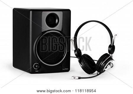 Speaker, Microphone And Headphones