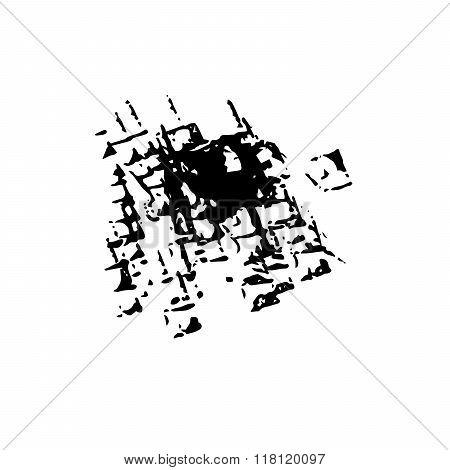 Worn grunge surface ink vector background