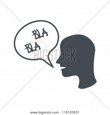 Anonymous, men says blah blah. Vector icon