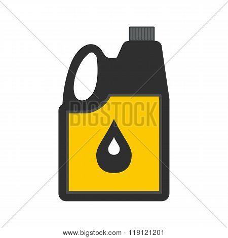 Jerrycan oil flat icon