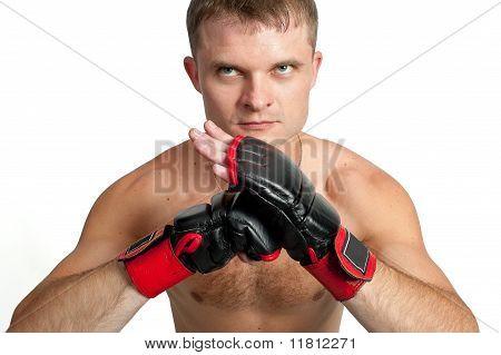 Master Of Boxing Isolated On White Background