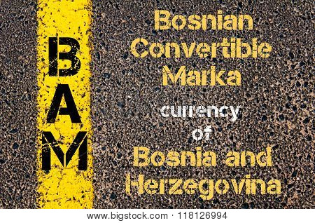 Acronym Bam - Bosnian Convertible Marka, Currency Of Bosnia And Herzegovina