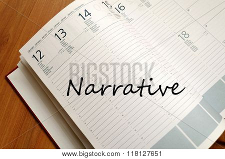 Narrative Write On Notebook