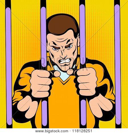 Prisoner at the jail