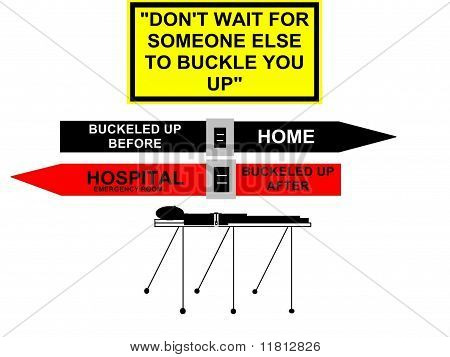 Seat Belt Safety Concept Sign