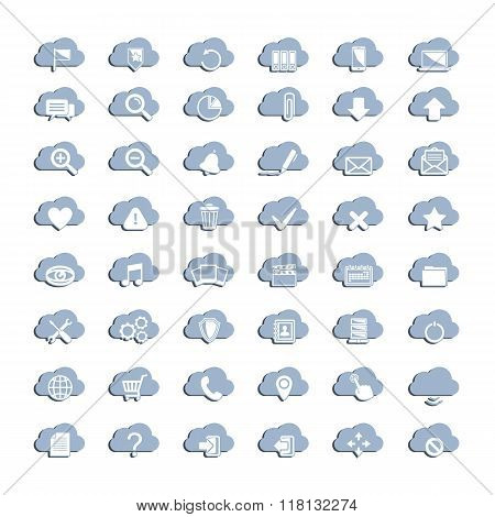 White cloud icons