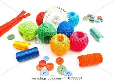 Thread, Pins, Zipper And Buttons