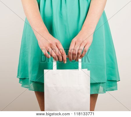 Girl With Paper Bags
