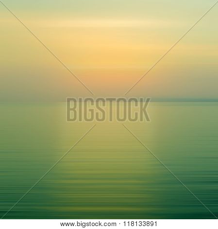 Abstract Blue Background Motion Blur Sunset On The Sea
