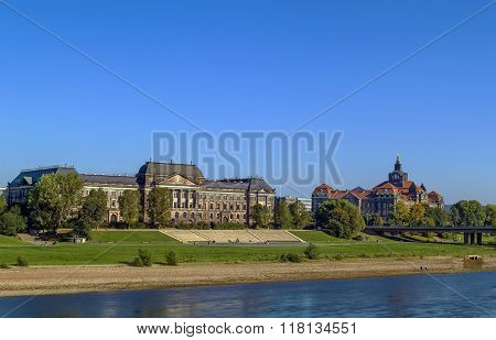 Treasury Building And Sachsische Staatskanzlei, Dresden, Germany