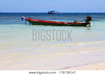 Asia  The  Kho Tao Bay  White    And South China Sea