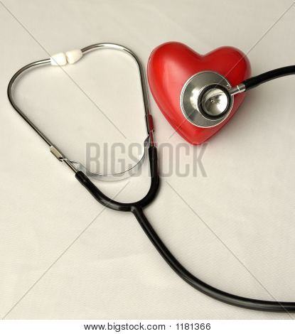 Stethoscope On A Heart