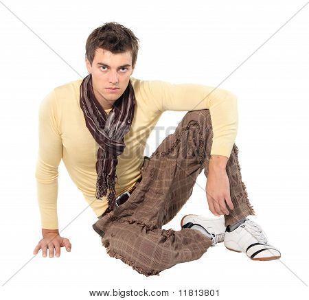 Fashion Men Pants, A Shirt With The White Background