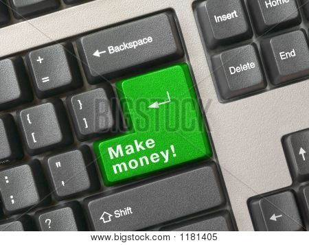 Tastatur grün wesentliche Make money