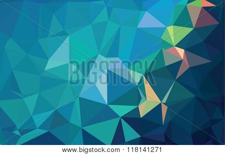 Abstract Geometric Polygonal Flower