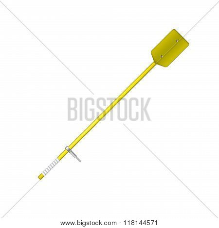 Old oar in yellow design