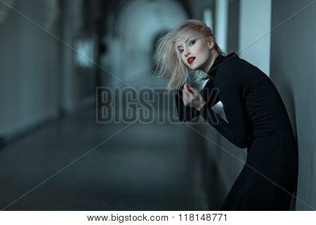 Beautiful Woman In Sorrow.