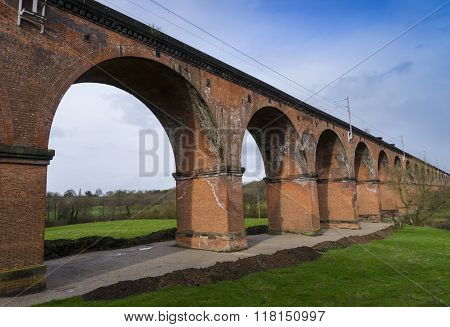 Twemlow Railway Viaduct, Cheshire, Uk