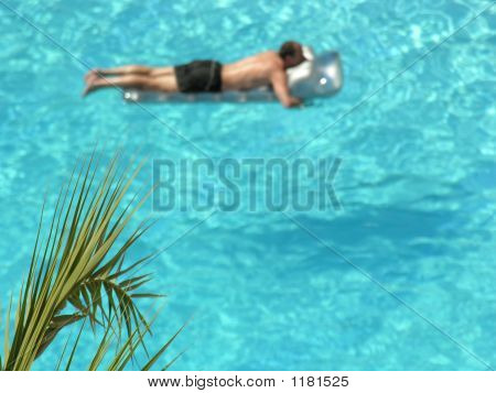 Man On Tropical Pool
