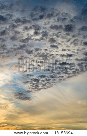 Different Clouds On Sunsrise Sky