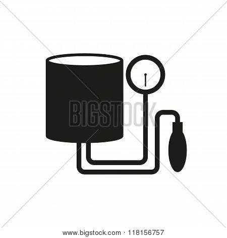 Tonometer Icon. Simple Flat Metro Design Style. Outline Icon. Flat Design Style