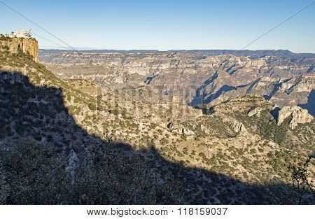 Cable Car Station In Copper Canyon