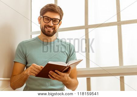 Handsome Man With Book