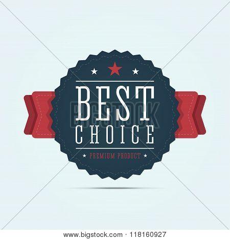 Best choice badge.
