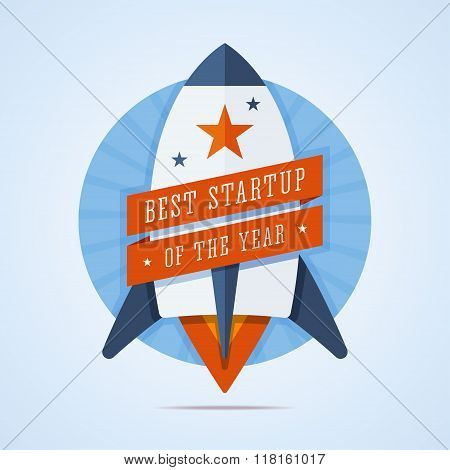 Best startup of the year illustration.