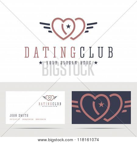 Dating club logo and business card template.
