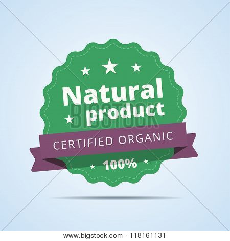 Natural product badge.