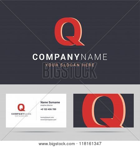 Logotype, logo template and business card template.