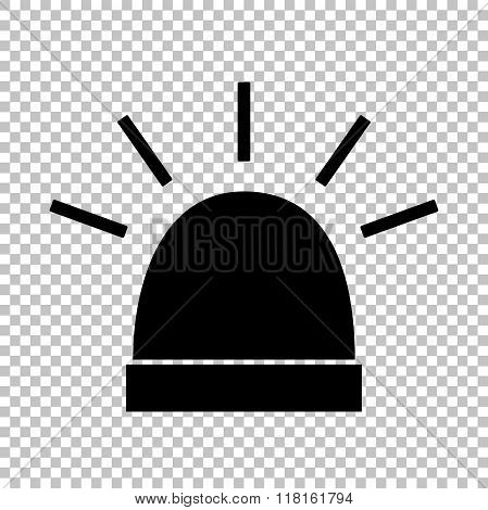Black vector icon isolated on transparent background