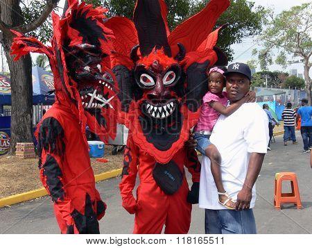 Red Devils At Panama Carnival