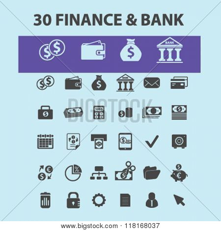 finance icon, finance concept, finance logo, banking, money, investment icons
