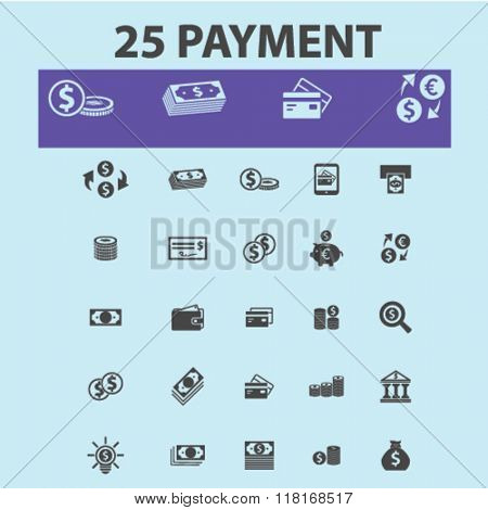 payment icons, money icons, banking icons, bank logo