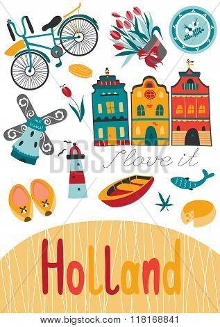 Netherlands card template