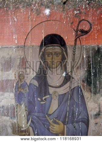 Virgin Mary Icon In Panama Viejo